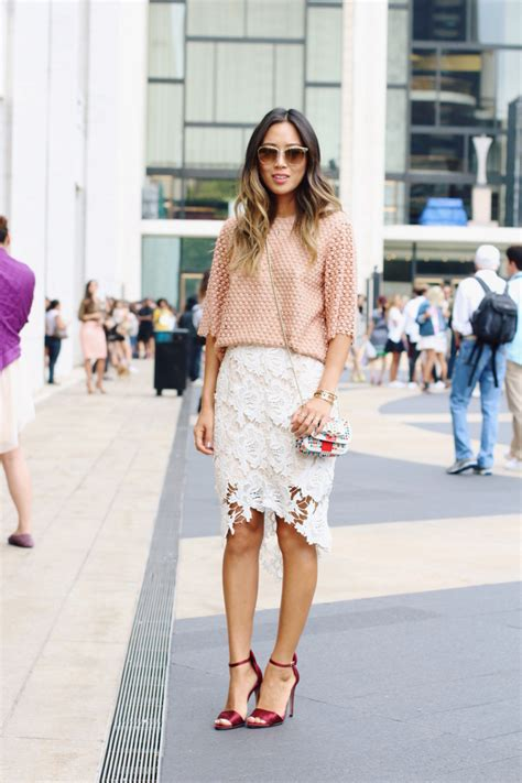 Ways To Wear Lace by How To Make A Lace Skirt Work For Daytime Stylecaster