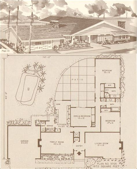 Mid Century Ranch House Plans by Mid Century Modern Rustic Ranch Style House Design No