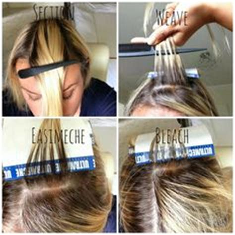 how to section hair for foil highlights 1000 ideas about how to highlight hair on pinterest