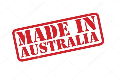 made with rubber st made in australia rubber st vector a white