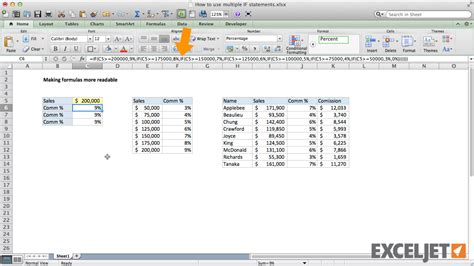 excel tutorial nested if function excel tutorial how to make a nested if formula easier to read