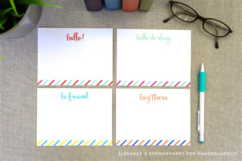 printable flat note cards remodelaholic free printable note cards
