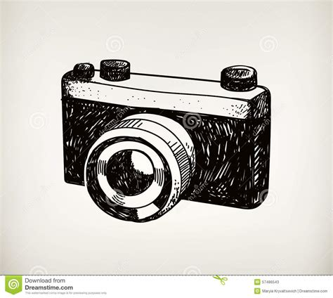 imagenes hipster camara vector retro hand drawn hipster photo camera stock vector
