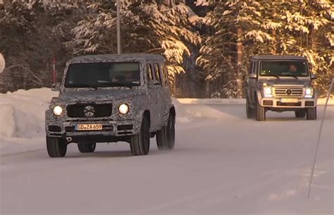 g class 2018 2018 mercedes g class spotted winter testing looks