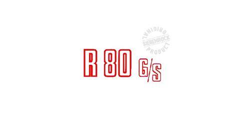 Bmw R 80 Gs Aufkleber by Schriftzug Quot R 80 G S Quot Rot F 252 R Bmw R80g S Motorradzubeh 246 R