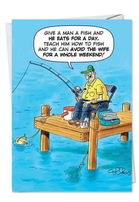 old boat joke old fisherman joke funny birthday father paper greeting card