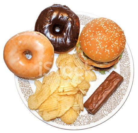 unhealthy food plate stock photos freeimages.com