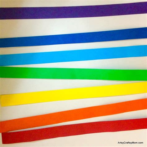What To Make With Colored Paper - rainbow paper collage for artsy craftsy