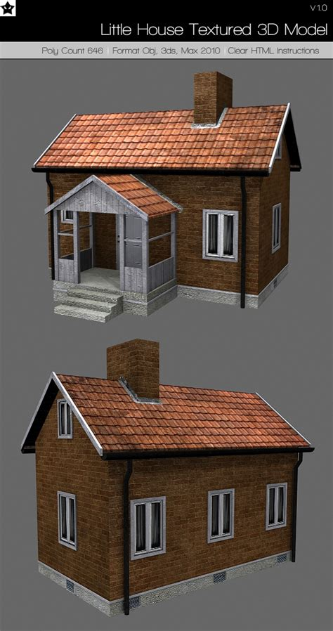 3d houses for sale house textured 3d model by darkstardesigns 3docean