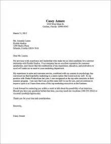 exemple of cover letter cover letter sle uva career center