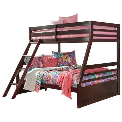 ashley signature design halanton solid pine twinfull bunk bed dunk bright furniture bunk beds