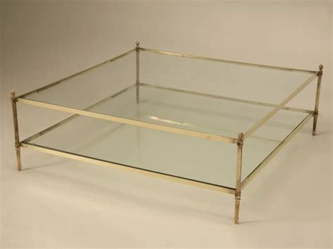 coffee table large square glass coffee table large