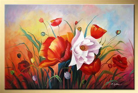 art works hand painted bright rose decorative landscape