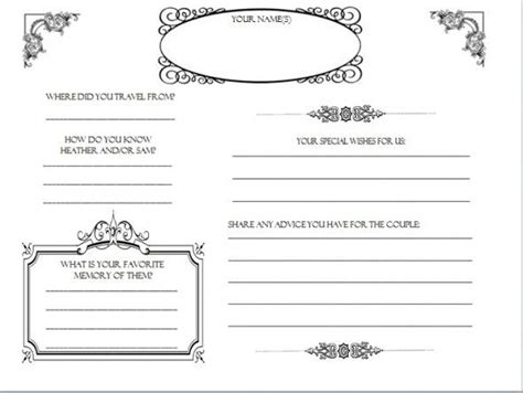 diy wedding guestbook templates my guestbook pages dyi
