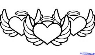 Heart With Wings Coloring Pages  GetColoringPagescom sketch template