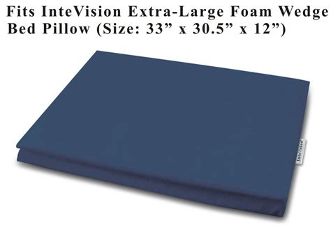 intevision foam wedge bed pillow amazon com intevision extra large foam wedge bed pillow