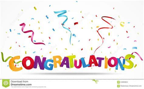 congratulations  confetti stock vector illustration