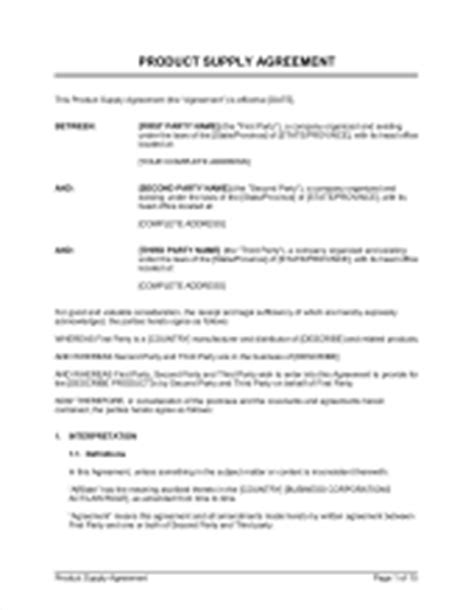 alliance agreement template strategic alliance and supply agreement template