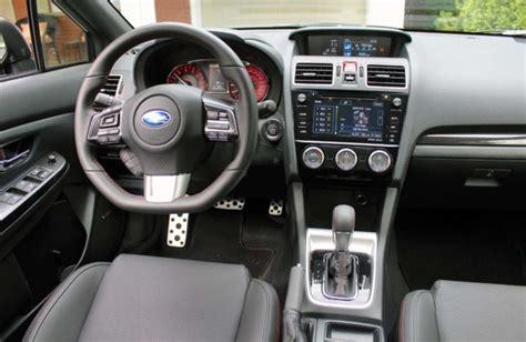 subaru wrx cvt interior test drive 2017 subaru wrx sport tech cvt autos ca