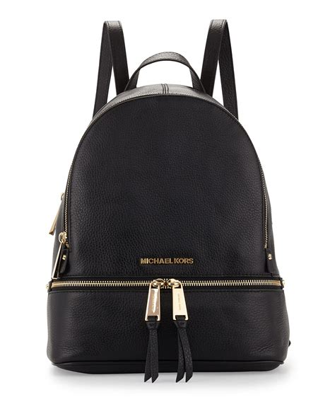 Michael Kors Rhea Backpack michael michael kors rhea small zip backpack in black lyst