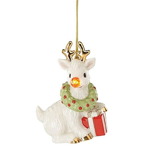lenox 174 blinking all the way reindeer christmas ornament