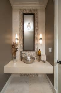 Mirror Trim For Bathroom Mirrors - modern contemporary powder room with travertine tile contemporary powder room chicago by