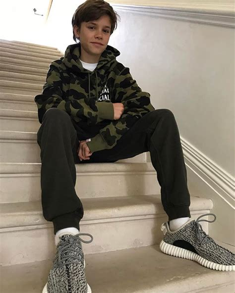 romeo beckham eye color david beckham calls out son romeo for stealing his trainers