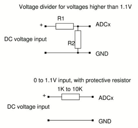 resistor divider calculator voltage divider calculator for the max adc board