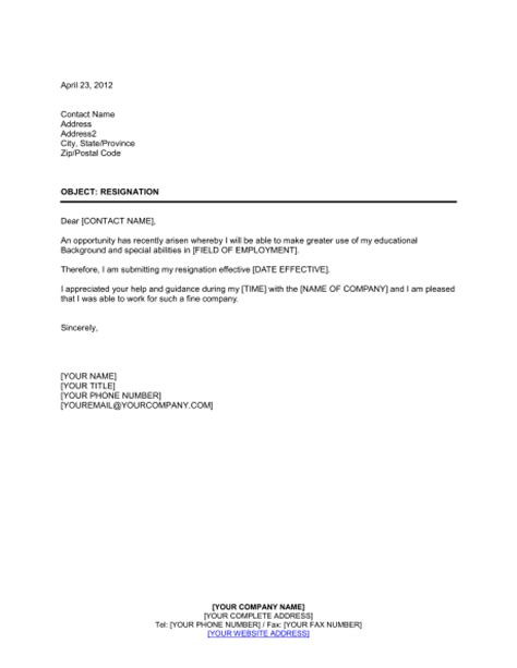 Resignation Letter Due To Moving Overseas Resignation Template Sle Form Biztree