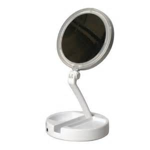 Vanity Mirror With Lighted Folding Floxite 7504 12l 12x Led Lighted Folding Vanity And Travel