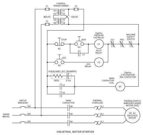 industrial relay diagram wiring diagram