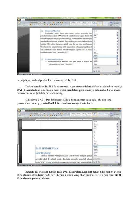 membuat daftar isi pdf cara membuat daftar isi dengan heading sarangnyatutorial