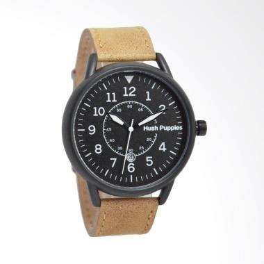 jual hush puppies analog jam tangan pria black hp 3840m 2502 harga kualitas