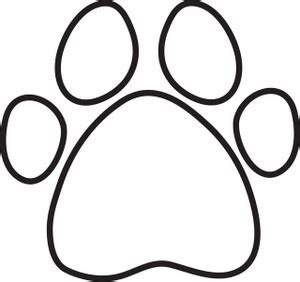 coloring pictures of dog paws dog house clip art black and white clipart panda free