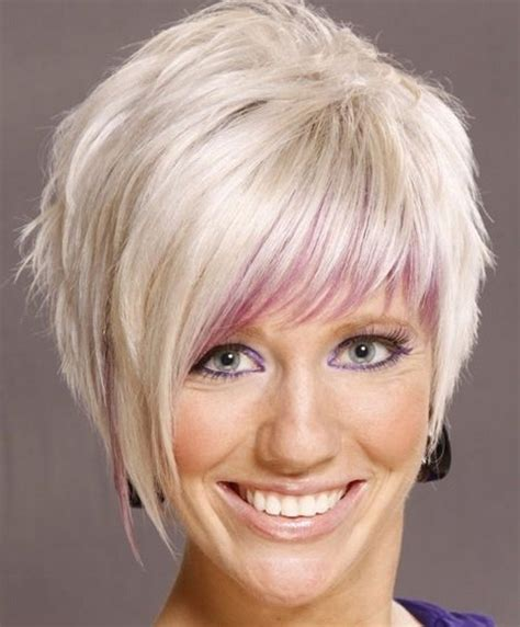asymmetrical haircuts for women over 40 with fine har modne fryzury krotkie wlosy