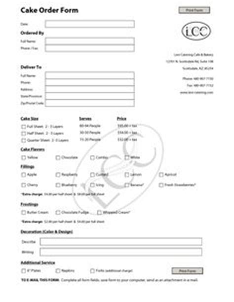 1000+ images about cake order forms on pinterest   order