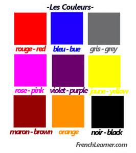 how to say colors in colors