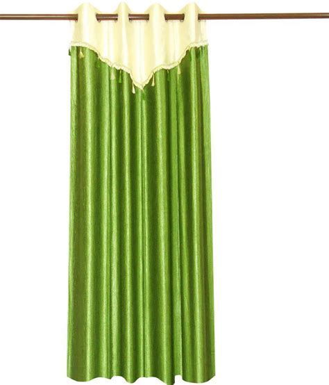 flap curtains zikrak exim green ivory and green curtain with flap pc