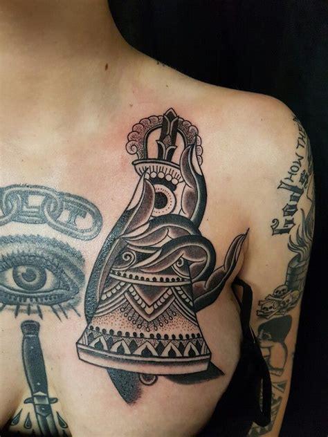 belle tattoo vajra bell tibetan buddhist sacred monkey