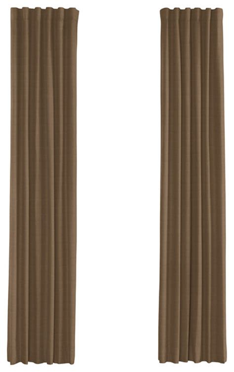 Custom Drapery Panels Beige Lightweight Linen Custom Drapery Single Panel