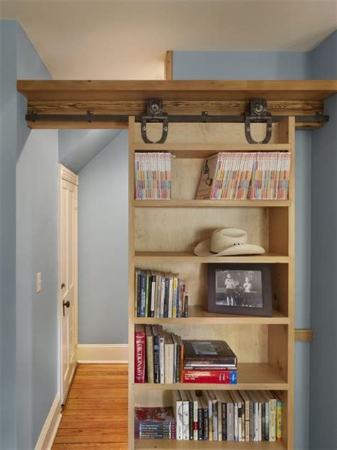 sliding bookcase wall would make a great door with