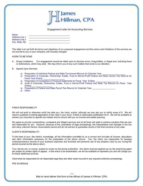 templates sample engagement letter bookkeeping