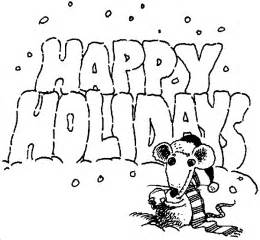 happy holidays coloring pages kidprintables coloring pages