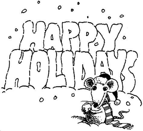 free coloring pages happy holidays kidprintables com coloring pages