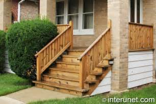simple wood porch with stairs interunet