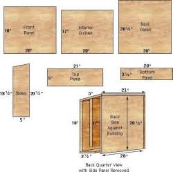 Plans For Bat Houses Bat House Plans Gardening