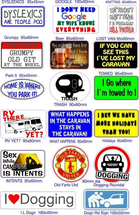 Caravan Aufkleber cer and caravan stickers