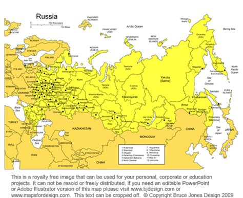 russia map and surrounding countries is russia in asia