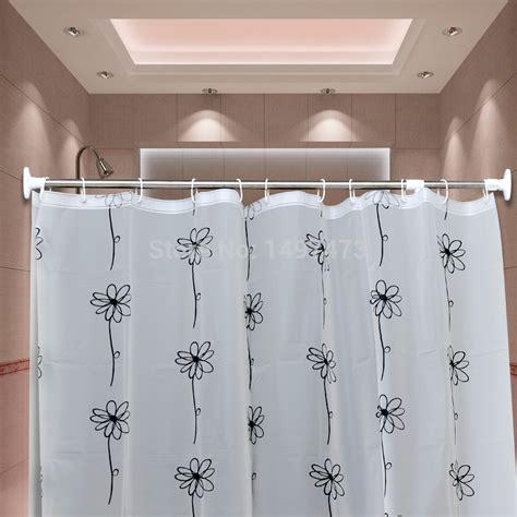 Retractable Shower Curtain Rod Rods Brief Bathroom