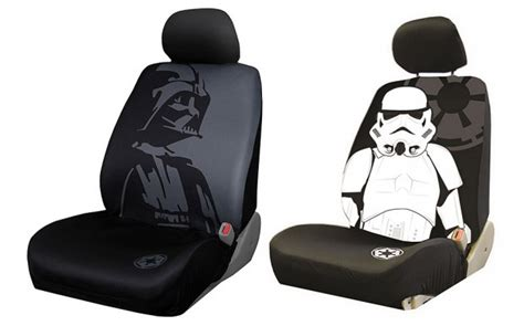 totally awesome car seats darth vader and stormtrooper car seat covers may the
